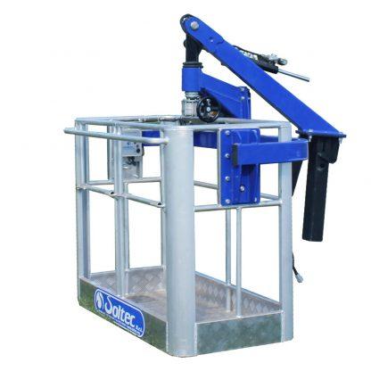Basket for hydraulic cranes