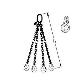 Élingue chaîne grade 80 4 brins
