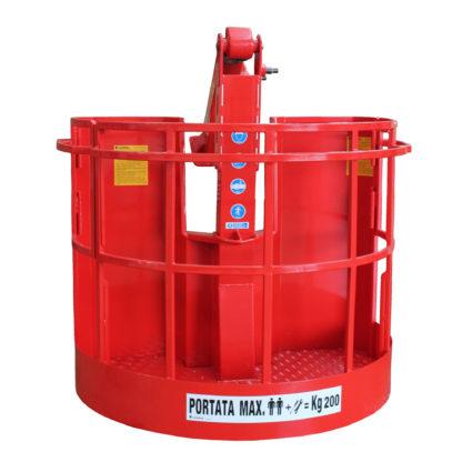 Cestello portaoperatore per gru idrauliche