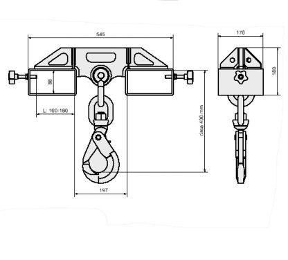 Hook for forklift 5 Ton