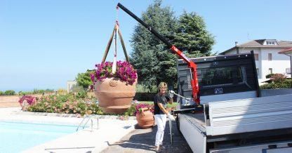 Mini gru vivaio piante su furgone 200 kili